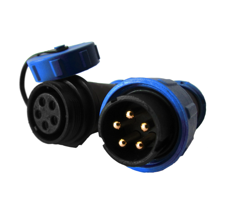 5 pin aerial connector