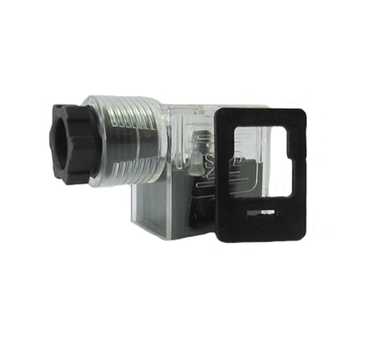 Connector for pneumatic and hydraulic solenoid
